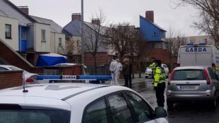 The scene at Balgaddy in west Dublin