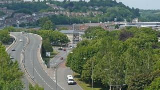 Woman, 64, dies in three-car crash on A4042 Newport - BBC News