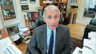 Anthony Fauci on Zoom