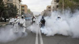 ضدعفونی خیابانهای تهران