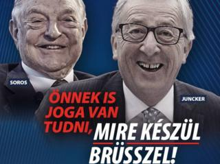 Hungarian government poster on Facebook