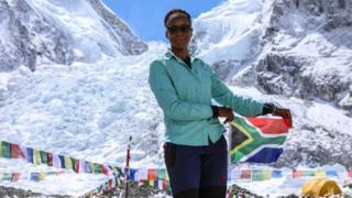 Saray Khumalo a déjà gravi le Kilimandjaro (Tanzanie), l'Aconcagua (Argentine) et le mont Elbrouz (Russie).