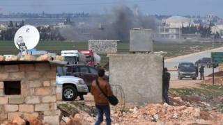 Suriye rejimi yanlısı güçlere topçu ateşi