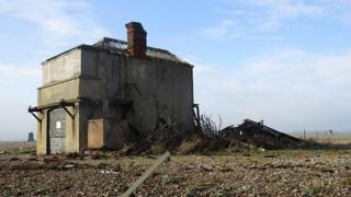 The Coastguard Station on the Orford Ness shingle spit