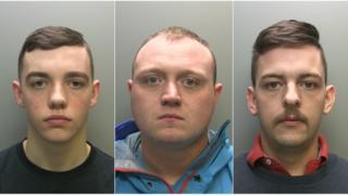Luke Hodgson (left), Stephen Neaves (centre) and Carl Swan