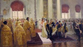 """""""Венчание Николая II и Александры Федоровны"""" (Илья Репин. 1894 год)"""