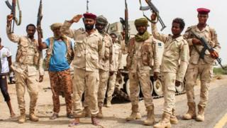 Soldados sudaneses.