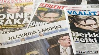 Finnish newspaper front pages