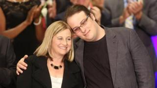 Megan Barry with son Max in 2015