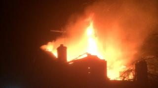 Photo of fire in Kirton on New Year's Day