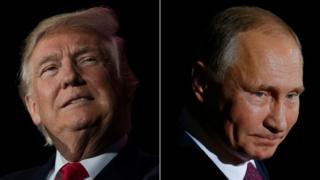 Donald Trump na Vradimir Putin