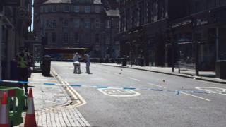 Queensferry Street crime scene