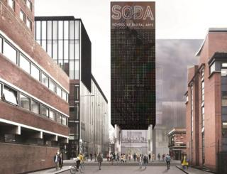 Artist's impression of SODA digital arts school
