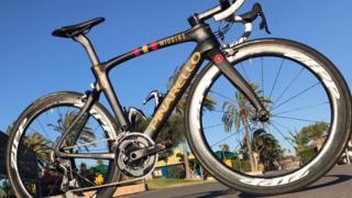 A Team Wiggins bike which was stolen
