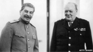 斯大林和丘吉尔