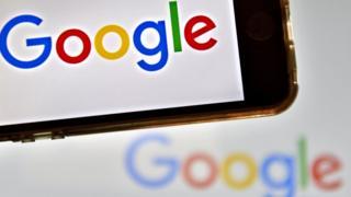 Google logo on smart phone.