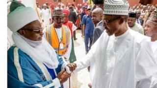 Shugaba Buhari da sarkin Katsina