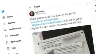 Postal vote tweet