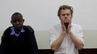 Jack Alexander Wolf Marrian appears at Kibera Law Court in Nairobi, Kenya