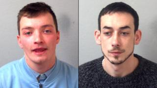 Charlie Simms (left) and Christopher Bergin (right)