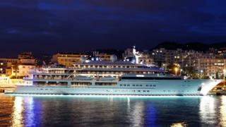 Luxury yacht in Nice