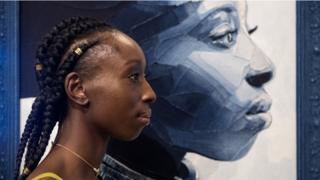 Eunice Olumide outside her gallery in London