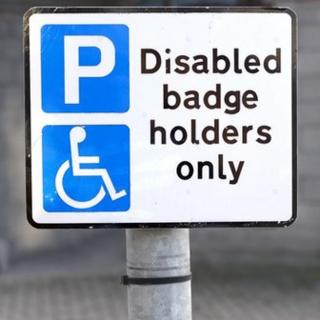 Disabled bay sign