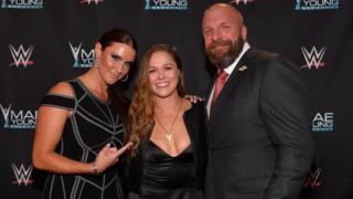 Ronda Rousey Triple H Stephanie McMahon