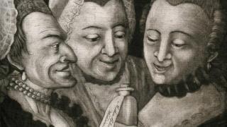 Три женщины с бутылкой лекарства