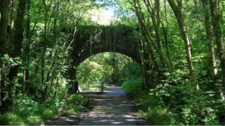 The Clyne Valley cycle path