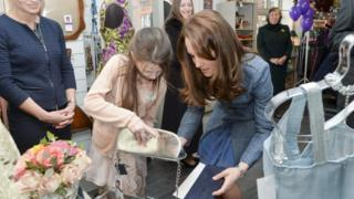 Rebekah Hughes and the Duchess of Cambridge