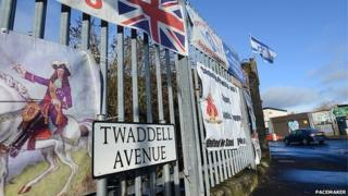 Twaddell Avenue in north Belfast