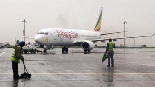 Un avion de la compagnie Ethiopian Airlines