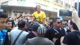 Jair Bolsonaro em ato de campanha