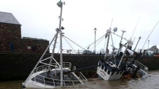 Sinking trawler