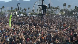 Crowd at Coachella festival