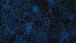West Midlands - running routes (by Strava users 2015)