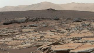 A lake bed explored by Nasa's Curiosity Mars rover