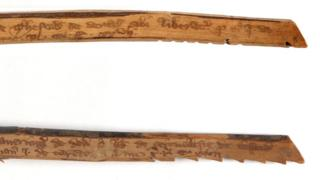 Medieval tally sticks. circa 1299