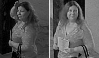 Imágenes de una cámara de seguridad de la sospechosa de robar en las bodas.