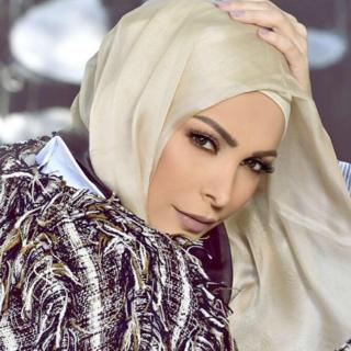 Photo of Lebanese singer Amal Hijazi posted on her Facebook account