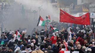 Protest in Awkar, north of Beirut