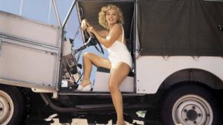 Marilyn Monroe in a Land Rover