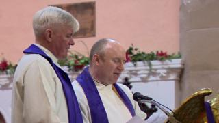 Father Pat McHugh (left) and Rev Neal Phair