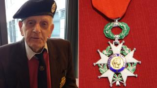 John Baker and his Legion D'Honneur medal