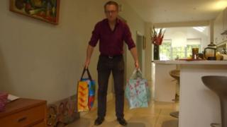 Ejercicio con las bolsas de la compra