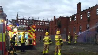 Dublin Fire Brigade at scene on Saturday morning