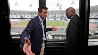 Sebastian Coe a succédé à Lamine Diack à la tête de l'IAAF.