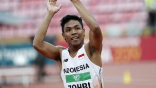 lalu muhammad zohri, juara, atletik, 100 meter, 100 m