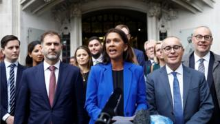 Gina Miller and others outside the Supreme Court